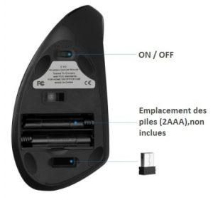 Souris ergonomique verticale sans fil