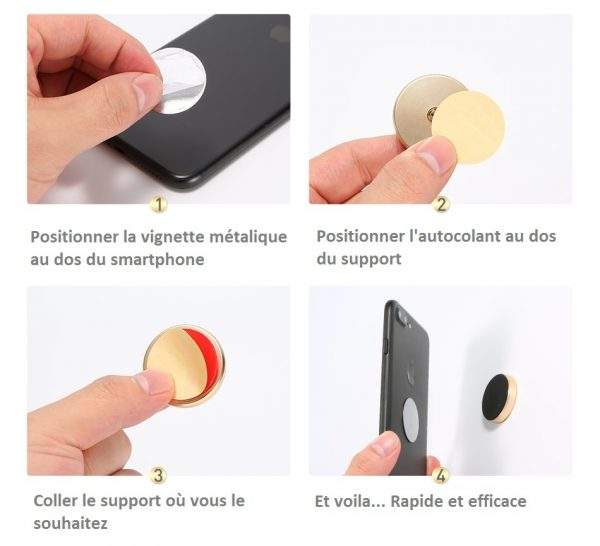 lot de 2 Supports de smartphone aimanté