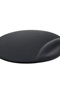 Tapis de souris ergonomique en cuir avec repose poignet